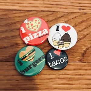 Accessories - Love Food Pin Set